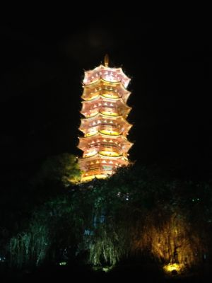 Pagoda Encendida Guilin China