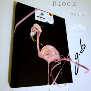 Block Flamingo pintor